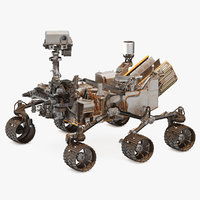 curiosity mars rover dusty 3D model