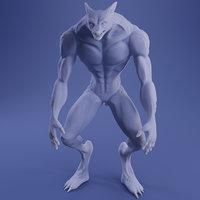 werefox print 3D model