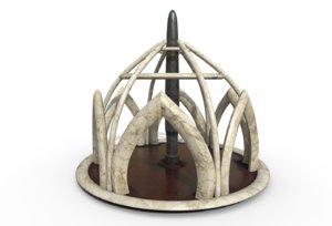 3D model wind temple