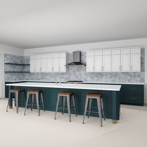 3D contemporary kitchen 2 interior