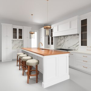 3D contemporary kitchen interior 4 model