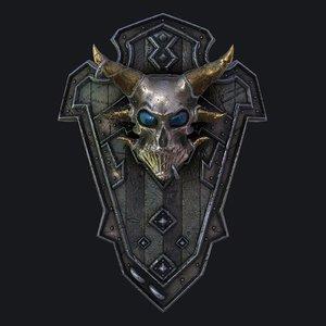 fantasy shield 3 3D model