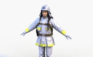 japan firefighter 3D model