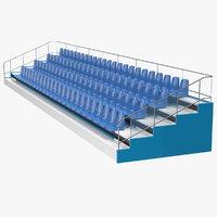 3D tribune rows model