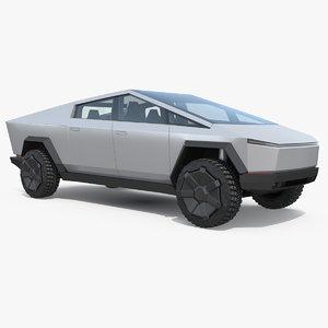 tesla cybertruck pickup truck 3D model