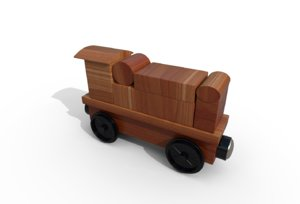 3D toy train engine