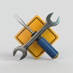 repairs pictogram 3D
