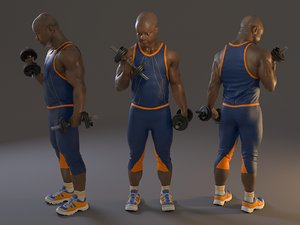 fitness male abl 3140 3D model