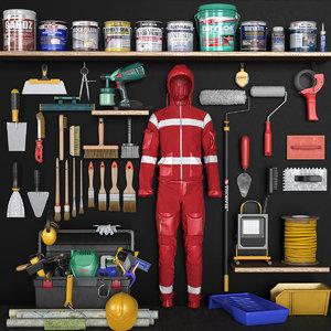 3D garage tools model
