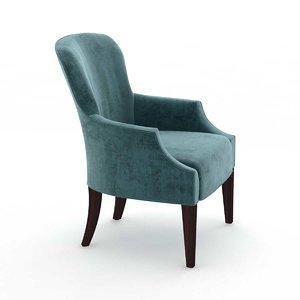 custom blue velvet wingback model