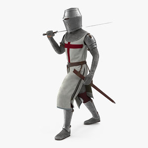 knight templar walking pose 3D model