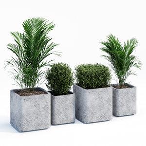 flowerpots conc 3D