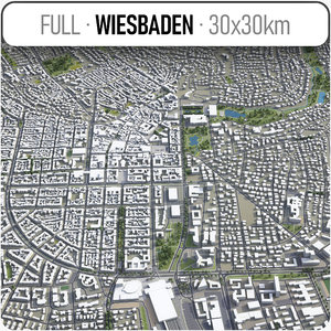 3D wiesbaden surrounding - model