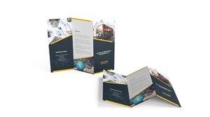 3D folded leaflet