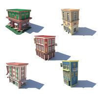 set 08 shop store 3D model