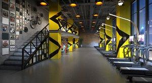 3D gym entertainment cafe