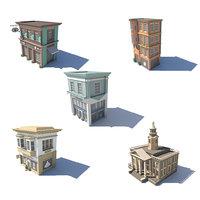 set 09 boutique store 3D model