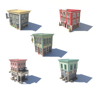 3D set 13 shop store model