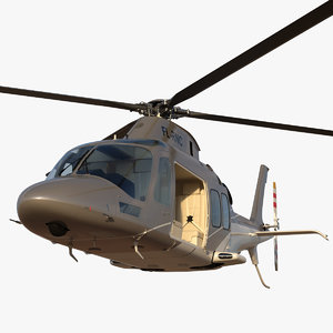 3D agusta aw109s grand rigged
