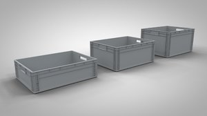 3D euro storage containers model
