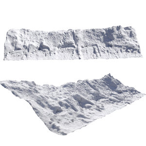 snow fence 3D model
