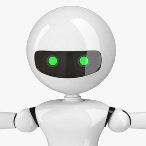 3D modern robot rigged modo model
