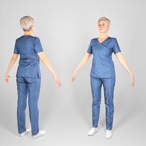 3D animation ready surgical nurse