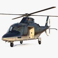 Agusta AW109S Grand Black Rigged