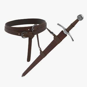 3D sword belt model