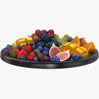 realistic fruit platter model