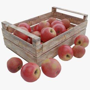 apple wood crate 3D model