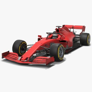formula 1 red race car 3D