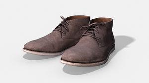 clarks men boots - 3D