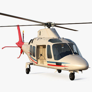 3D model multi-purpose helicopter copters rigged