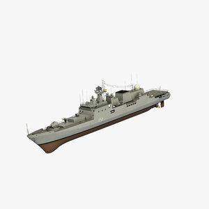 ins talwar class frigate 3D model
