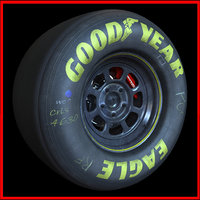 Nascar Racing Wheel (Rim and Tyre)
