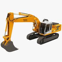 3D realistic excavator model