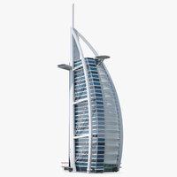 3D burj al arab tower