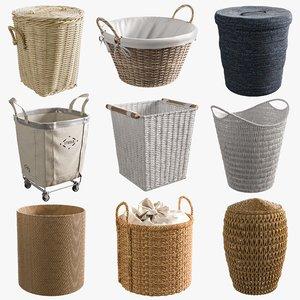 realistic basket 3D