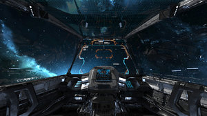 3D spaceship cockpit v1