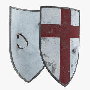 crusader shield 3D model