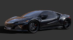 acura sport car 3D model
