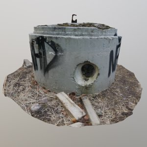 3D scanned pre-stressed concrete pipe