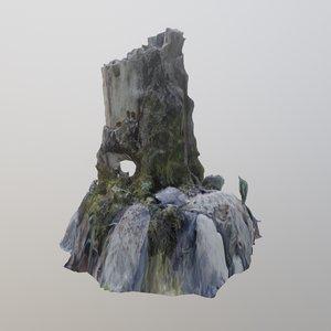 scanned stump 3D model