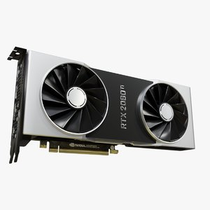 geforce rtx 2080 graphics 3D model