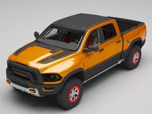 3D model ram rebel trx