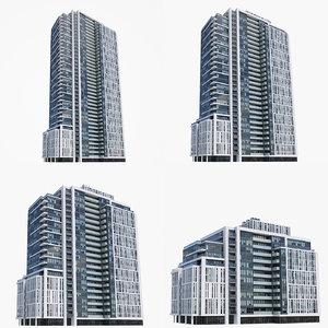 3D model ivory adelaide buildings