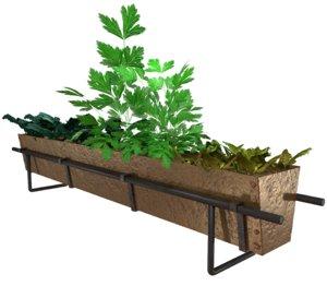 3D bronze herb food