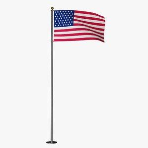 3D flag animation