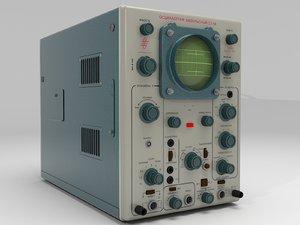 3D soviet oscilloscope c1-54